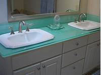 glass counter tops Examples of Eco-Friendly Glass Countertops | Furniture ...