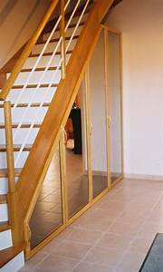 Placard Escalier : placard sous escalier sur mesure atelier madec nantes 44 ~ Carolinahurricanesstore.com Idées de Décoration
