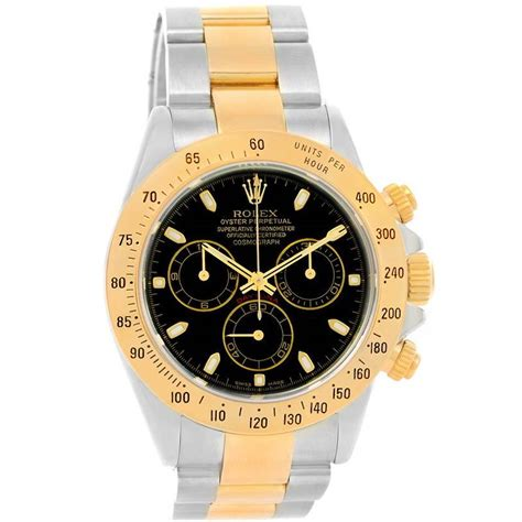 Rolex Cosmograph Daytona Steel 18K Yellow Gold Black Dial ...