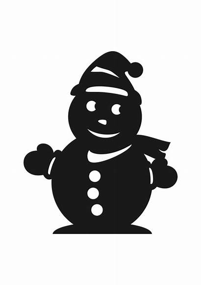 Snowman Svg Silhouette Winter Svgheart Before