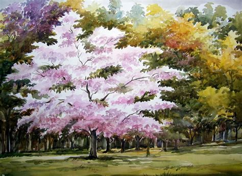 beauty  season flowers tree samiran sarkar artelista