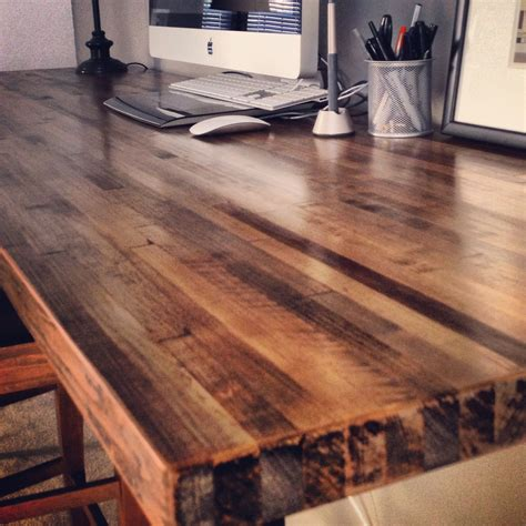 Staining Butcher Block Countertops by 7ft X 2ft Butcher Block Desktop 2 Coats Of Minwax Stain