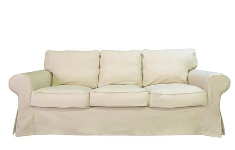 custom sofa covers ikea ektorp sofa custom slipcover in oatmeal linen