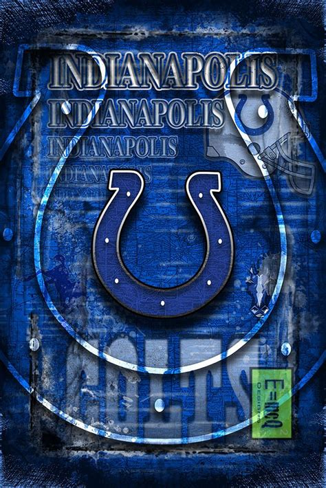 Indianapolis Colts Sports Poster Indianapolis Colts