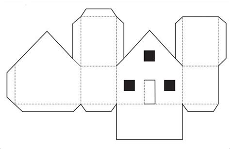 paper house templates   house template