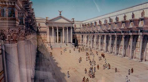 Reconstructive view of the Forum of Nerva and the temple o ...
