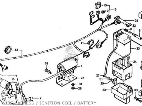 1977 Honda Ct70 Wiring Schematic by Honda Ct70 Trail 70 1977 Usa Parts List Partsmanual Partsfiche