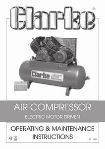 Air Compressor Operating  U0026 Maintenance Instructions