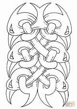 Coloring Celtic Tattoo Shamrock Printable Kleurplaat Supercoloring Patrick Celtycki Vorlage Celtycka Sztuka Printables Wzor Template Drukuj Huis Printen Keltisch Kleurplaten sketch template