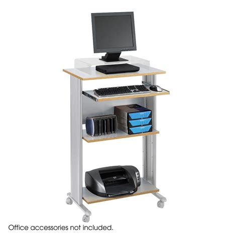 stand up computer stand for desk safco muv stand up computer cart