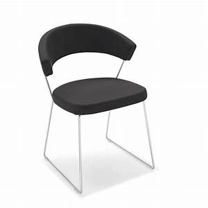 Chaise Design Metal : chaise design en m tal cuir new york calligaris 4 pieds tables chaises et tabourets ~ Teatrodelosmanantiales.com Idées de Décoration