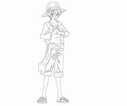 Luffy Coloring Monkey Pages Printable Random