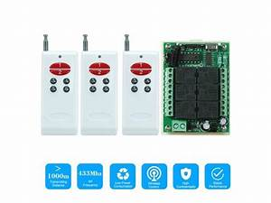 433mhz Dc 12v 6ch Channel Universal 10a Relay Wireless Rf