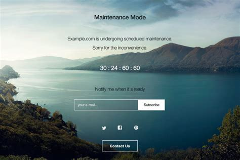 Maintenance Mode Html Template by Top Animated Event Countdown Timer Plugins In