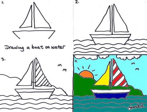 How To Draw Boat With Colour by Lesson 3 Drawing A Boat Boats