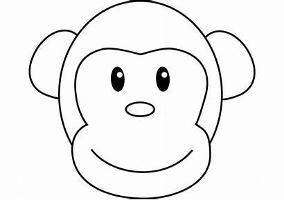 Ausmalbilder Monkey Affe Coloring Drawing Funny Zum