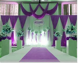 Purple wedding stage decorations wwwimgkidcom the for Purple stage decoration