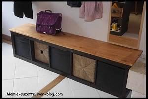 Banc A Chaussure Ikea : ikea expedit relook en banc pour l 39 entr e avec rangements ~ Dode.kayakingforconservation.com Idées de Décoration