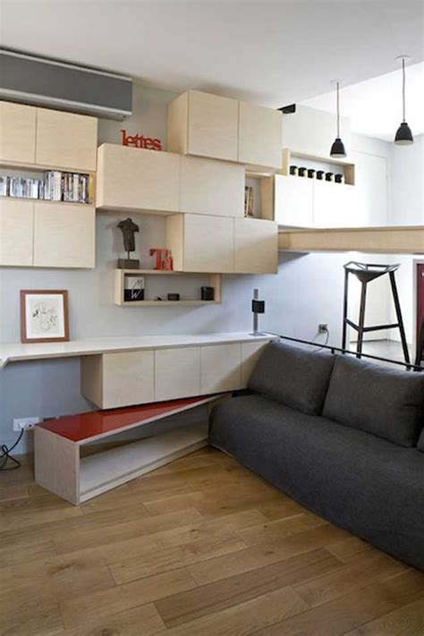 square foot micro apartment  paris big tricks