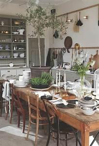 Table De Cuisine En Bois : la cuisine en bois massif en beaucoup de photos ~ Teatrodelosmanantiales.com Idées de Décoration