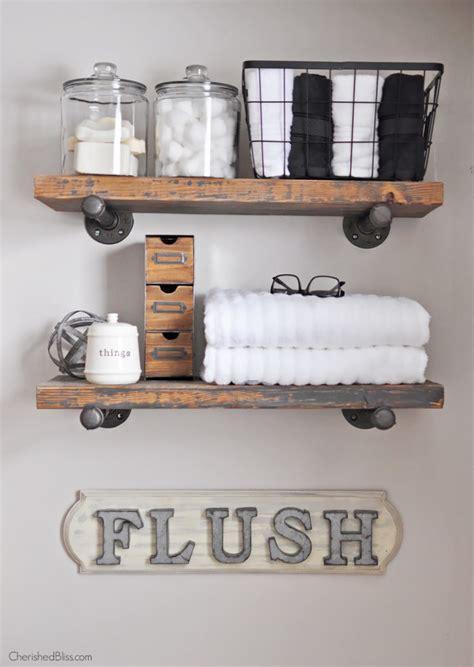 diy industrial farmhouse bathroom sign cherished bliss