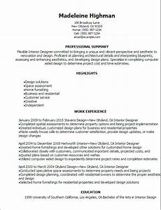professional interior designer resume templates to With interior designer resume format