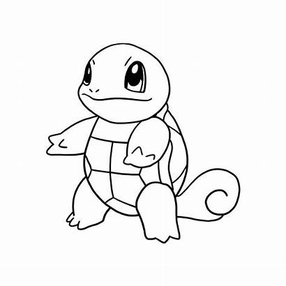 Pokemon Coloring Squirtle Pages Sketch Printable Stencils