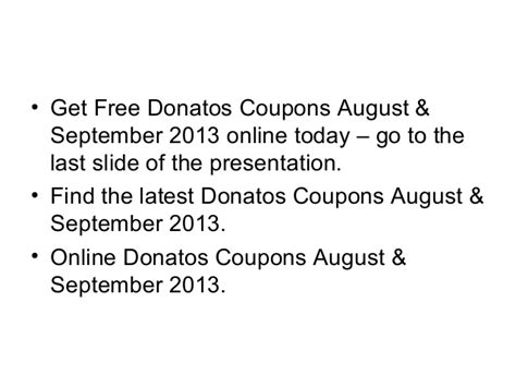 60025 Donatos Coupons For Today by Donatos Coupons August September 2013