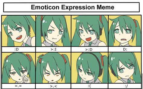 Hatsune Miku Memes - hatsune miku emoticon expression meme by kiiroikat on deviantart