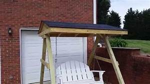 Porch Swing Frame With A Roof