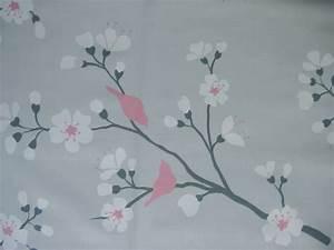 Rideau Gris Et Rose : rideau en coton gris rose 30646 30647 ~ Teatrodelosmanantiales.com Idées de Décoration