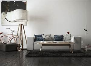 Lampadaire Moderne Salon : d co salon moderne pour une atmosph re chaleureuse ~ Teatrodelosmanantiales.com Idées de Décoration