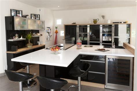 modele cuisine noir et blanc charmant modeles de petites cuisines modernes 3