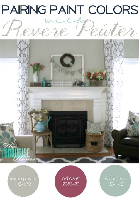 pairing paint colors with revere pewter the turquoise home