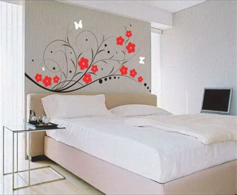 Ideas For Decorating A Bedroom Wall by Wall Painting Ideas For Bedroom Architectural Design
