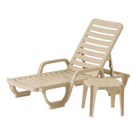 chaises grosfillex grosfillex 44031166 bahia stacking chaise adjustable