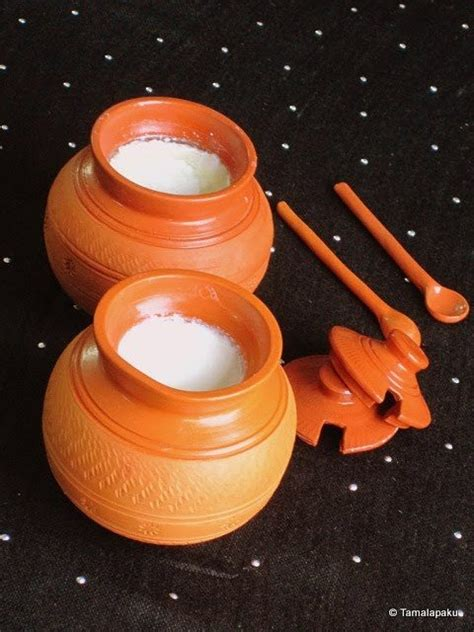 clay cooking indian yogurt homemade pots pot curds tamalapaku cuisine nomlist recipes recipe cups ingredients