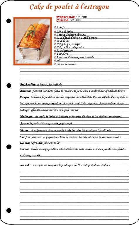 id馥 de cuisine facile exemple de recette de cuisine 28 images davaus modele recette cuisine word avec des id 233 es int 233 ressantes pour la conception de la