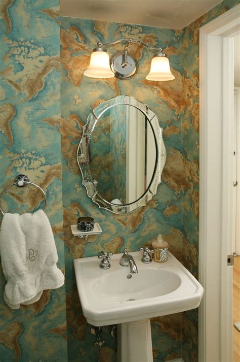 venetian etched mirror bathroom traditional  double