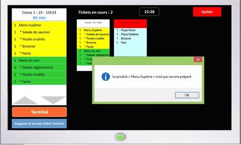 alerte en cuisine logiciel de gestion et de préparation des commandes en cuisine