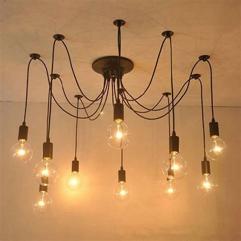 Diy Edison Chandelier by Modern Nordic Retro Edison Chandelier Lighting Vintage