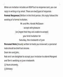 16 formal invitation letters sample templates With wedding invitation formal message