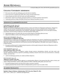 awesome director of admissions resume resume format web
