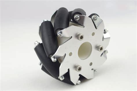 100mm Aluminium Mecanum Wheels (bush Type Rollers) Left