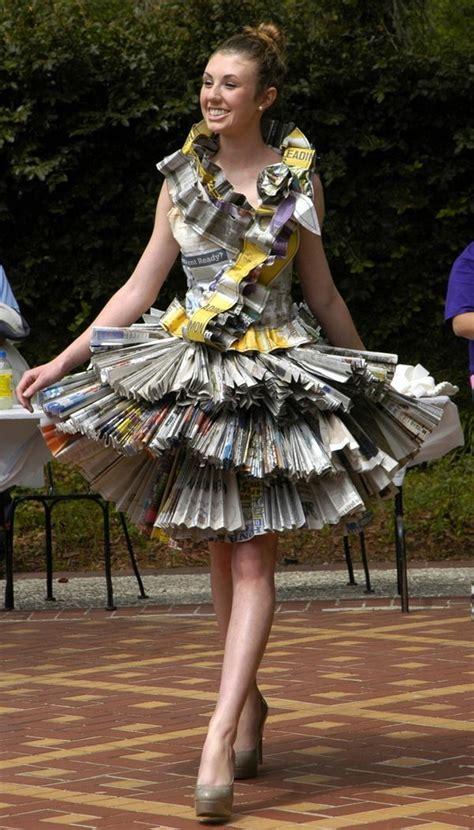 creative newspaper craft fashion ideas