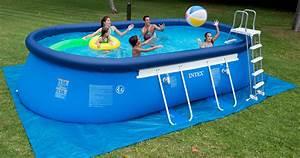 Piscine Ovale Hors Sol : piscine hors sol ovale intex piscine intex 4m idea mc ~ Dailycaller-alerts.com Idées de Décoration