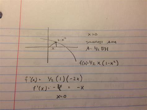 Calculus  Minimizing Area Of A Triangle  Mathematics Stack Exchange