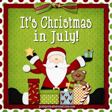 christmas in july pink polka dot creations