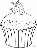 Muffin Coloring Pages Strawberry Cupcake Drawing Muffins Printable Cakes Cup Cupcakes Sheet Ausmalbild Erdbeere Mit Neocoloring Template Cake Azcoloring Ice sketch template