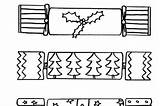 Cracker Coloring Crackers Colouring Template sketch template